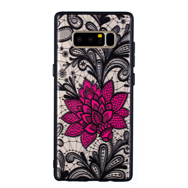 Lace Black Rose 3D Phone Case For Samsung Galaxy S6 S7 S8 S9 Edge Plus S Note 8 9 Cases Note9 S9Plus