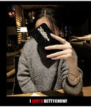 Handmade DIY Bling Crystal Full Black Diamond Soft Phone Case Cover For Iphone 6 6s plus 7 7plus 8 8plus X