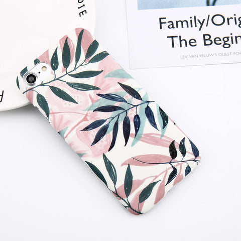 Flower Leaf Print Phone Case For iPhone 6s 6plus 7 7plus 8 8plus X XR XS MAX