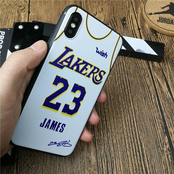 NBA Lakers James Case For Iphone 6 6s Plus 7 7 plus 8 8 plus X Xs Max
