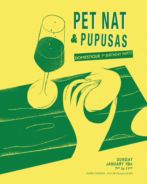 Pet Nat and Pupusas Poster