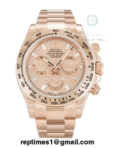 all rose gold Replica Rolex Daytona watch - RepTimes is the best website to buy the best quality replica fake designer brand swiss movement watches.
