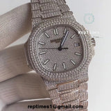 BEST SELLING Iced out Patek Philippe Nautilus watch - RepTimes is the best website to buy the best quality replica fake designer brand swiss movement watches.