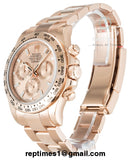 Faint rose gold Replica Rolex Daytona watch - RepTimes is the best website to buy the best quality replica fake designer brand swiss movement watches.