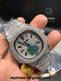 High Quality iced out Replica Patek Philippe Nautilus Watch With Chronograph - RepTimes is the best website to buy the best quality replica fake designer brand swiss movement watches.