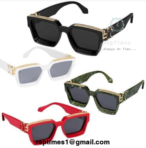 High quality replica Extremely Rare Lv X Virgil Abloh with Gold Accent 1.1 Millionaires Runway Spring Summer 2019 Unisex Celebrity Sunglasses - RepTimes is the best website to buy the best quality replica fake designer brand swiss movement watches.