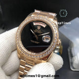 ICED OUT BEZEL Replica clone Rolex DAY DATE Watch - RepTimes is the best website to buy the best quality replica fake designer brand swiss movement watches.