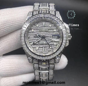 ICED OUT BUST DOWN Replica Rolex GMT Master Watch - RepTimes is the best website to buy the best quality replica fake designer brand swiss movement watches.