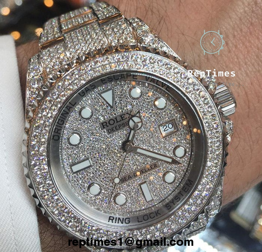 iced out rolex submariner