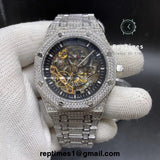 iced out moissanite diamonds Replica AP Audemars Piguet Royal Oak Skeleton (PICK COLOR) - RepTimes is the best website to buy the best quality replica fake designer brand swiss movement watches.