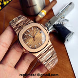 Plain Jane Replica patek philippe Nautilus mens watch (PICK COLORS) - RepTimes is the best website to buy the best quality replica fake designer brand swiss movement watches.