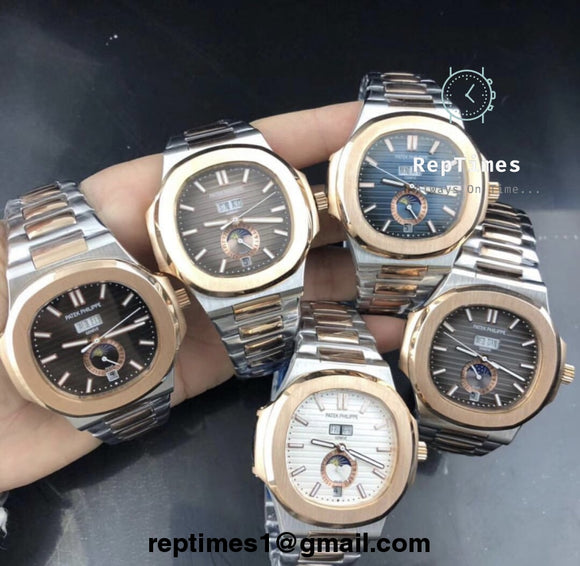 Plain Jane Replica Patek Philippe Watch with working chronograph - RepTimes is the best website to buy the best quality replica fake designer brand swiss movement watches.