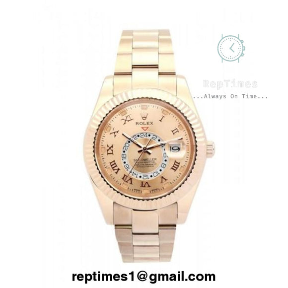 Plain Jane Replica Rolex Sky Dweller watch (Available In Different Variations) - RepTimes is the best website to buy the best quality replica fake designer brand swiss movement watches.