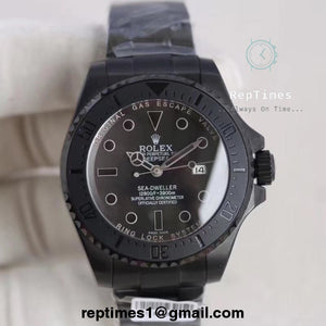 Replica ALL BLACK BATMAN Rolex Sea-dweller men watch - RepTimes is the best website to buy the best quality replica fake designer brand swiss movement watches.