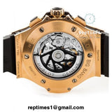 replica Black and gold Hublot BigBang mens watch - RepTimes is the best website to buy the best quality replica fake designer brand swiss movement watches.