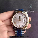 Replica Day date  rolex men watch Presidential - RepTimes is the best website to buy the best quality replica fake designer brand swiss movement watches.