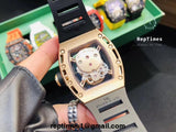 replica high quality skull dial Richard Mille RM052 Iced Out - RepTimes is the best website to buy the best quality replica fake designer brand swiss movement watches.