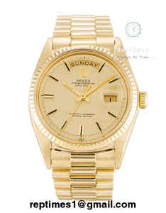 Replica Rolex Day-Date 40 228238 N Yellow Gold Champagne Dial Swiss 3255 - RepTimes is the best website to buy the best quality replica fake designer brand swiss movement watches.