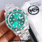 Replica rolex submariner Baguette diamond bezel (semi iced out bands) - RepTimes is the best website to buy the best quality replica fake designer brand swiss movement watches.
