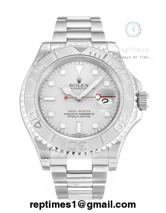Replica Rolex Yacht-Master 40 116622 JF Stainless Steel White Dial Swiss 2836-2 - RepTimes is the best website to buy the best quality replica fake designer brand swiss movement watches.