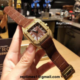 Santos cart-ier men watch ICED OUT BEZEL - RepTimes is the best website to buy the best quality replica fake designer brand swiss movement watches.