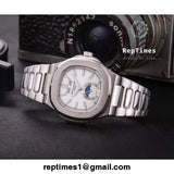 Silver plain jane patek philippe replica mens watch - RepTimes is the best website to buy the best quality replica fake designer brand swiss movement watches.
