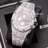 swiss Replica Audemars Piguet Royal Oak Iced-Out (Custom) (Various Options) tachometer watch - RepTimes is the best website to buy the best quality replica fake designer brand swiss movement watches.