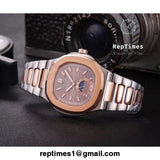 Two tone plain jane patek philippe replica mens watch - RepTimes is the best website to buy the best quality replica fake designer brand swiss movement watches.