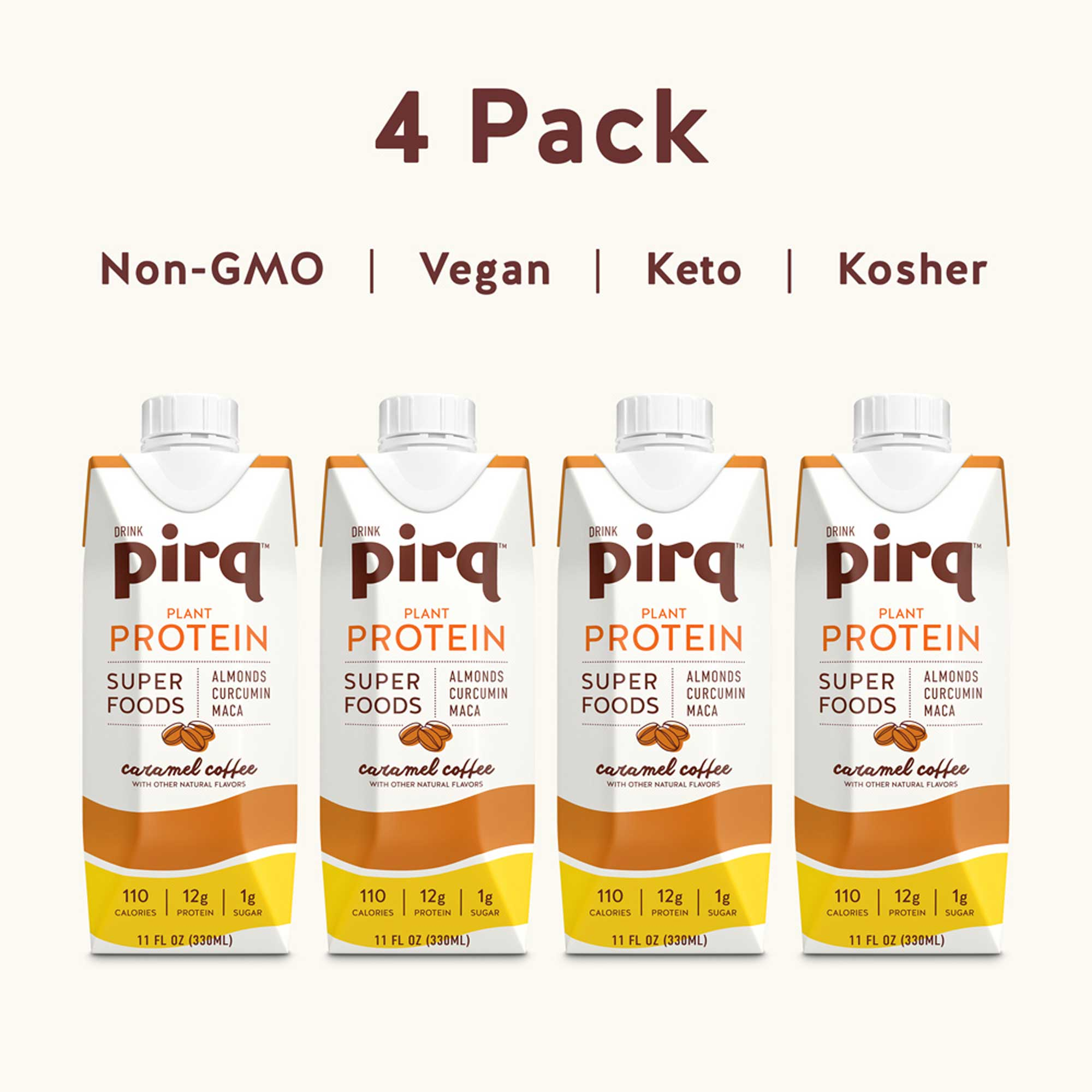 Pirq 4 Pack Box with 4 11 fl oz bottles