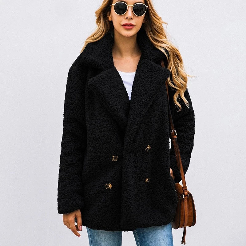 Vivacious Victoria Fleece- Faux Fur Jacket