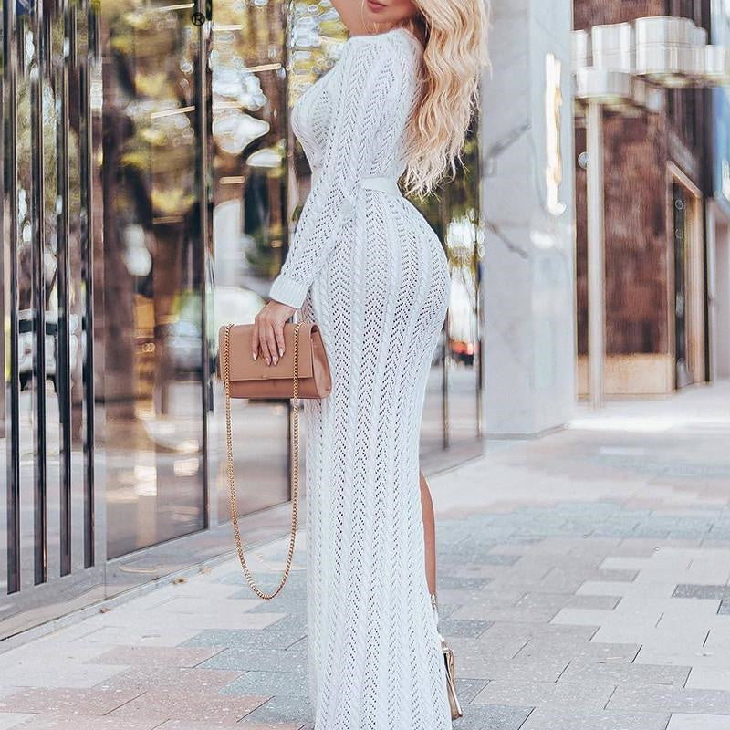 Sunset Avenue- One Shoulder Maxi
