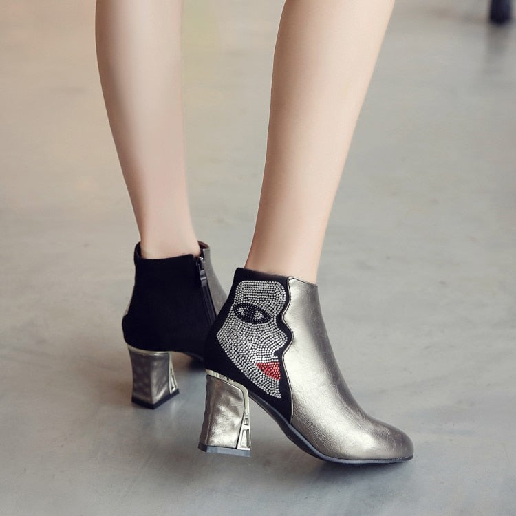 Madame Mirror Booties