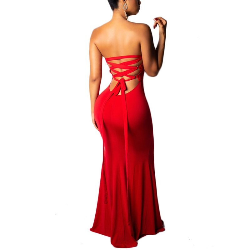 Hypnotic Heart Sexy Backless Mermaid- Maxi Dress