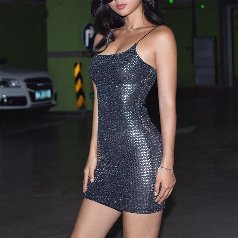 Mania Metallic- Mini Dress ⭐