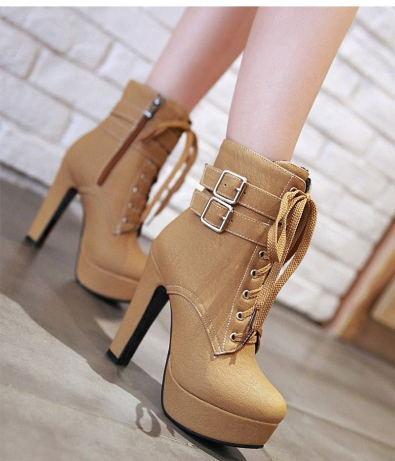 Invitation Only Lace Up-Ankle Boots