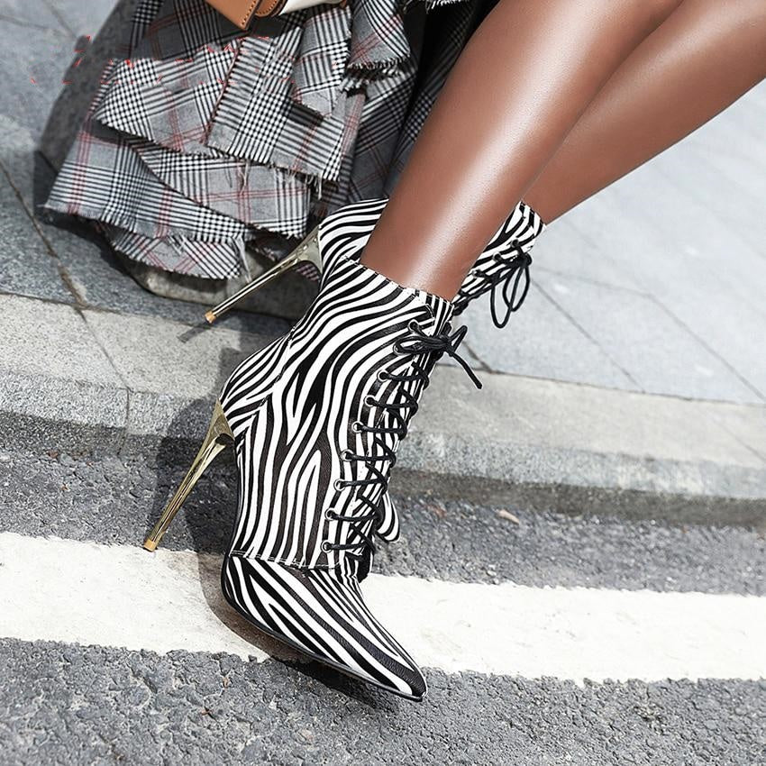 Primal Persuasion- Stiletto Ankle Boots