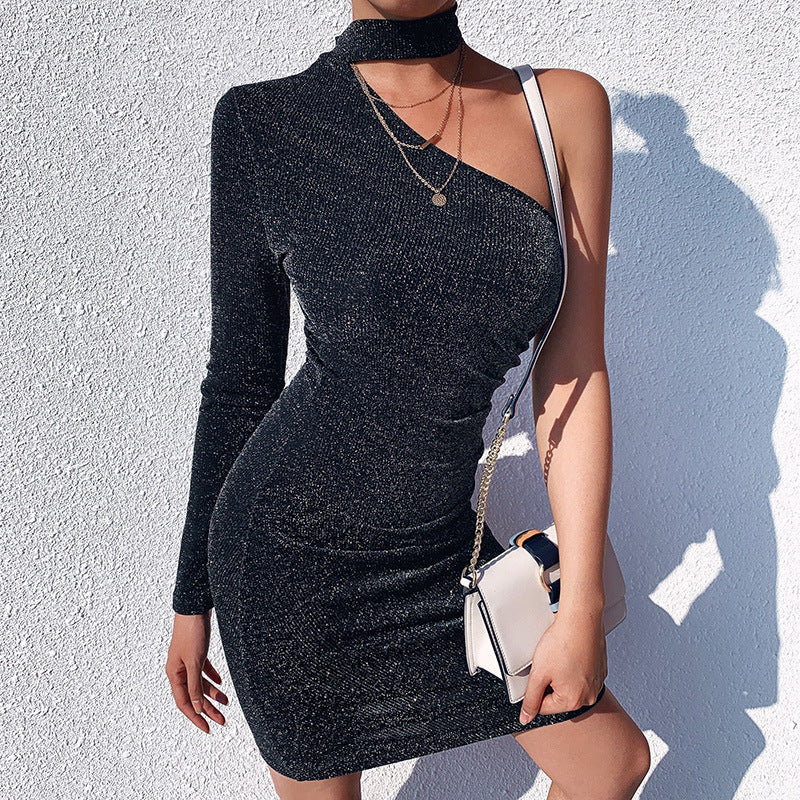 Luna's Gift-One Shoulder Midi Dress