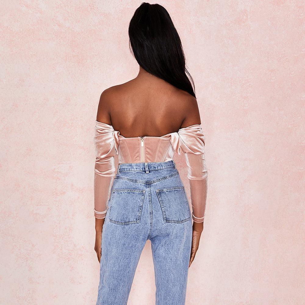 Adore Me- Elegant Ruched Crop Top