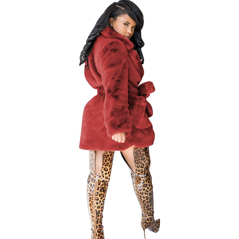 NOT SO SHY- Over-sized Rabbit Faux Fur Winter Coat