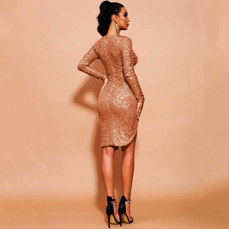 The Goddess Within- Embellished Sequined Dress