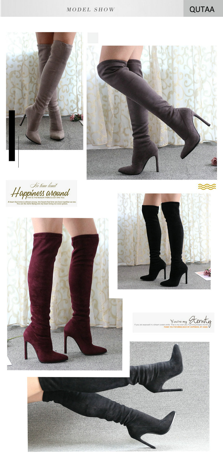 Penelope Pointed- Over The Knee Stilettos