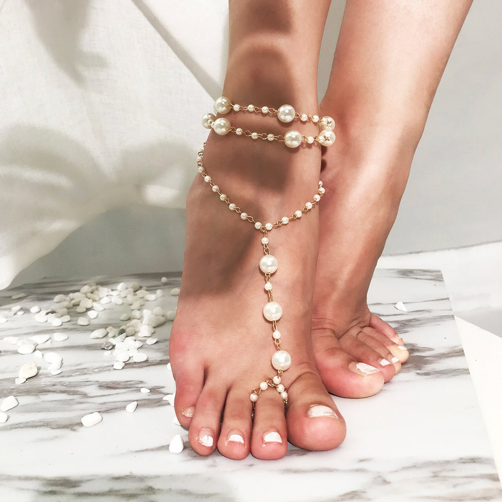 A Pearly Sea- Multilayered Anklet ⭐