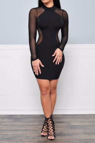 Out Of Your League- Bodycon Mesh Mini