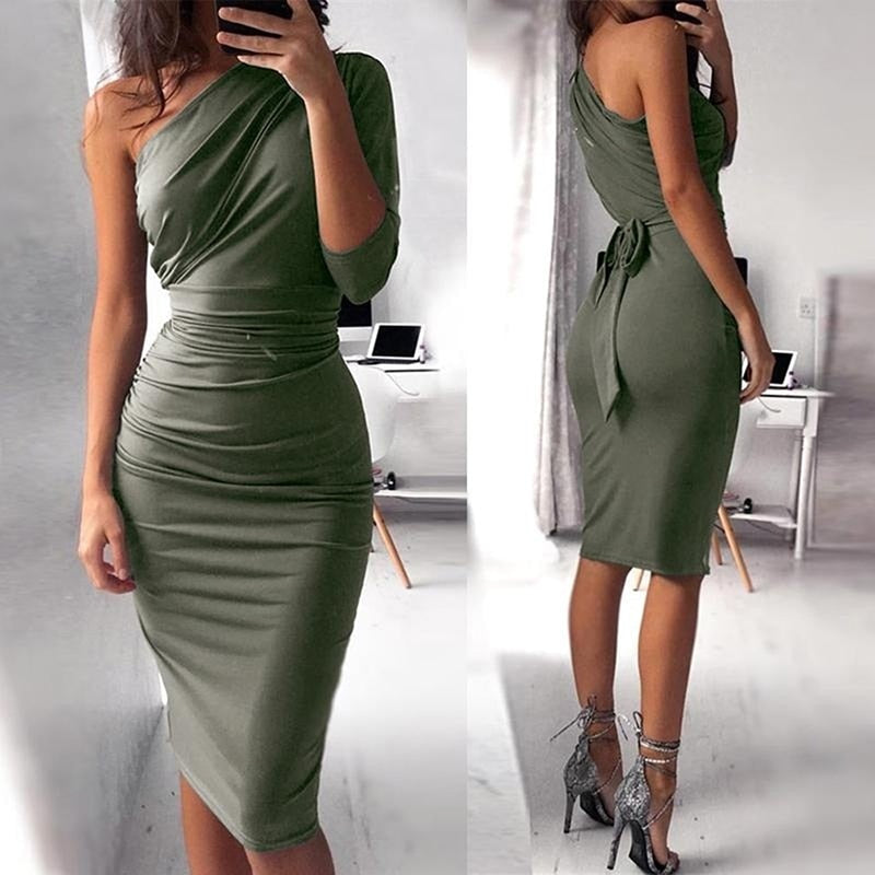 VIP Only- One Shoulder Midi