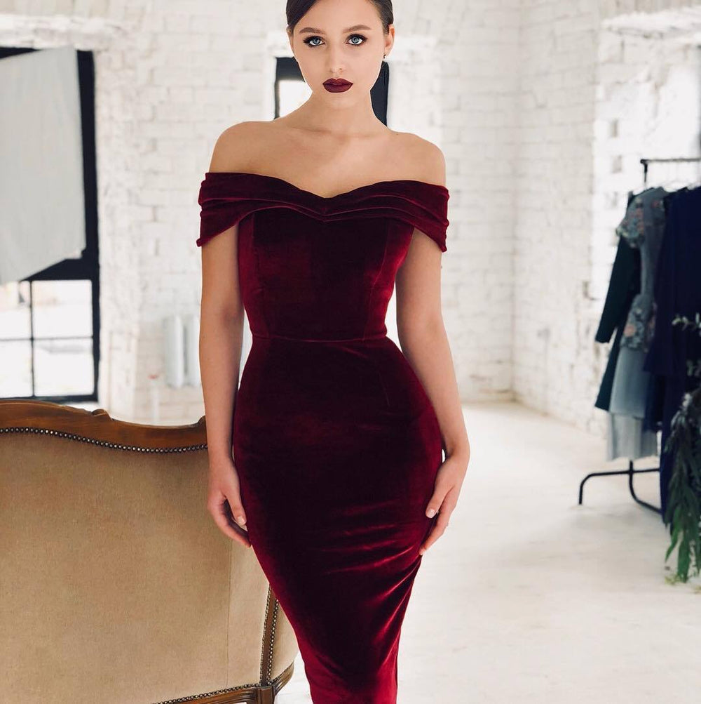Luxurious Goddess- Velvet Midi