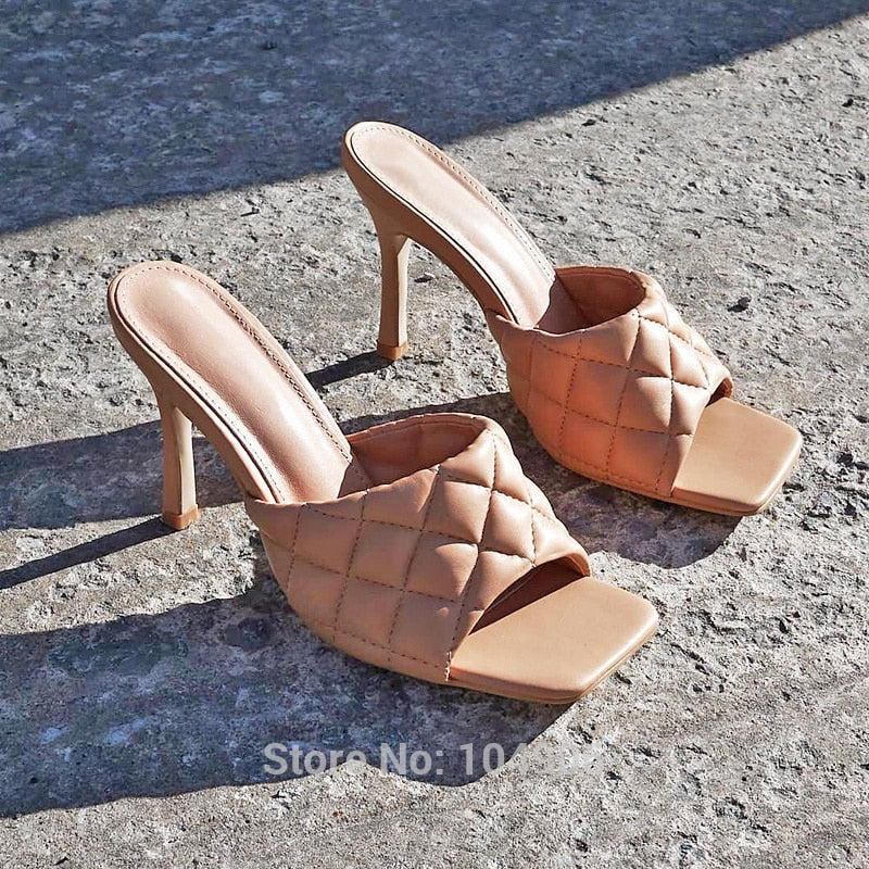 Aphrodite's Light- Braided Stiletto Mules