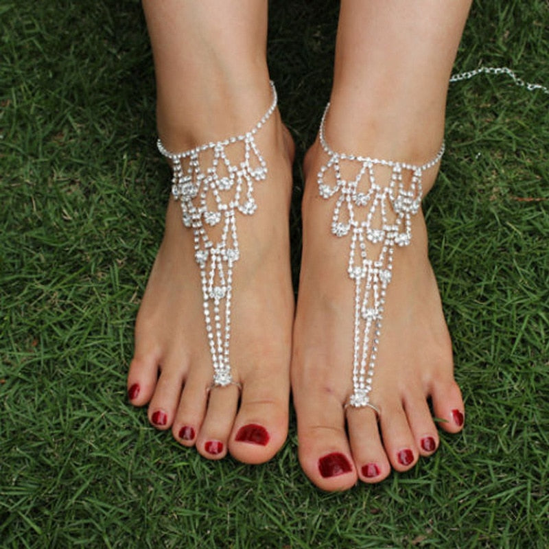 Chandelier- Multilayered Anklet