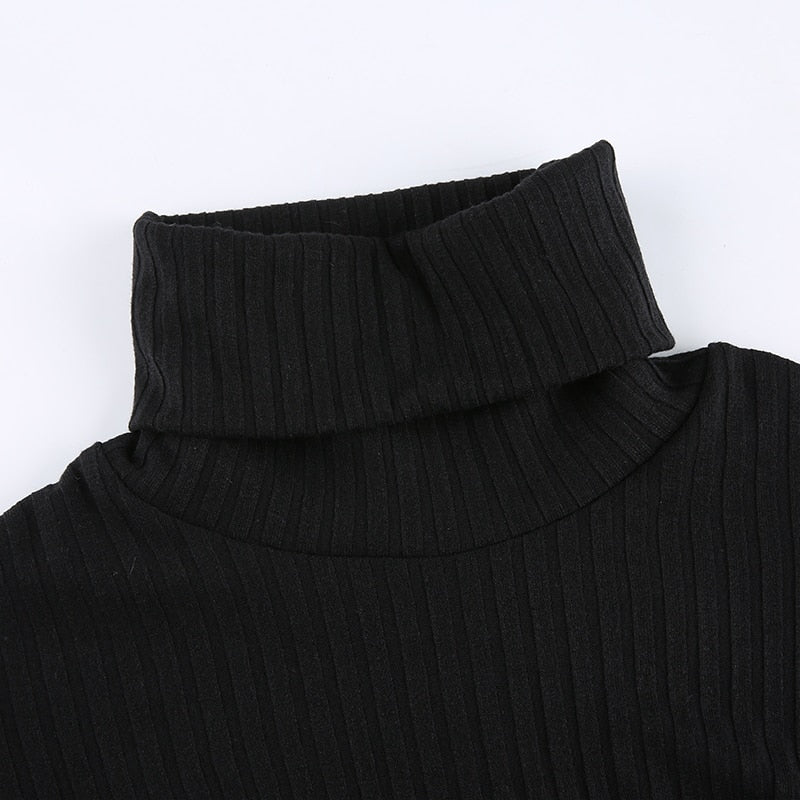 Knitted Icon- Turtleneck Bodysuit (Black)