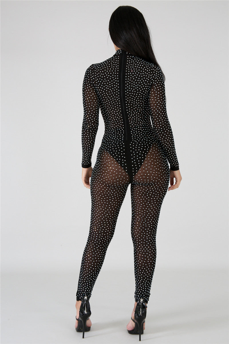 Caged Vixen Cat Suit- Romper