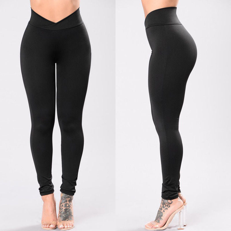 Medusa's Cross Hairs High Waist V-Cut Leggings